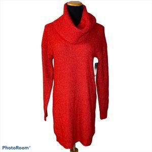 Free Press turtleneck long sleeve sweater red M